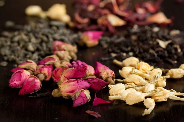 dried roses and jasmine