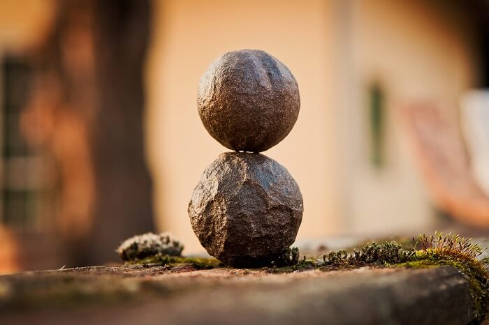 two stones on top of eachother