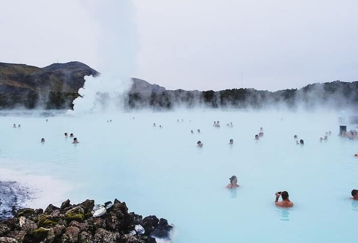 hydrotherapy session in iceland