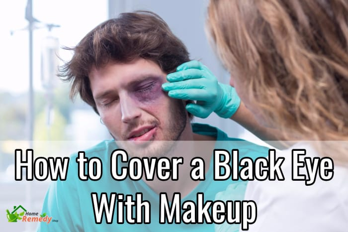 How to cover a black eye with makeup