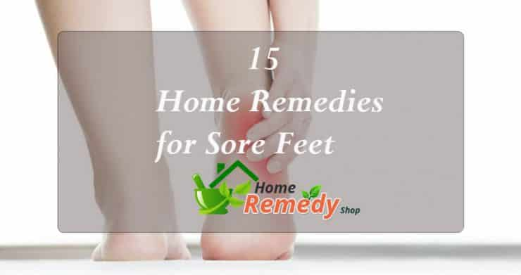 home remedies for sore feet