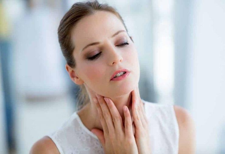 Girl experiencing Cricopharyngeal Spasm