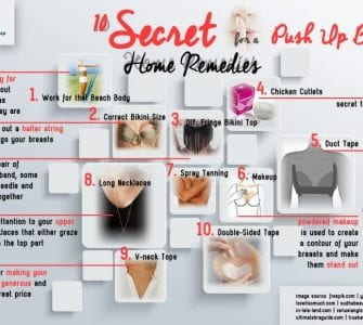 HRS infographic about tips to obtain a push up bikini effect