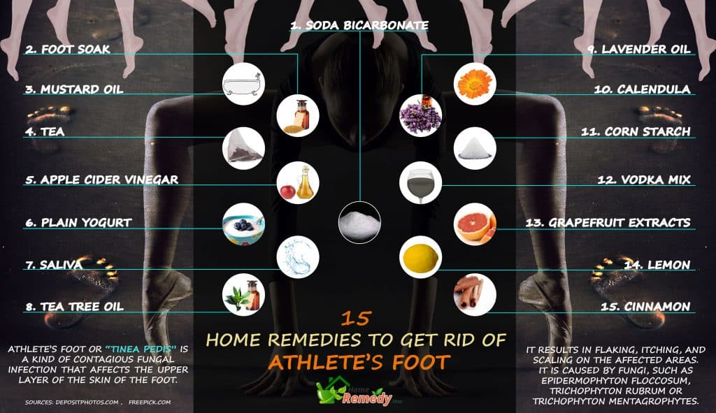 15 Home Remedies To Get Rid Of Athlete S Foot