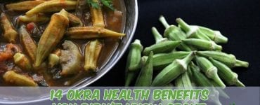 okra soup on table