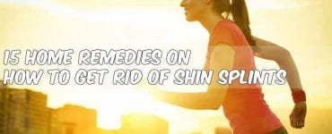 woman running cation home remedies for shin splints