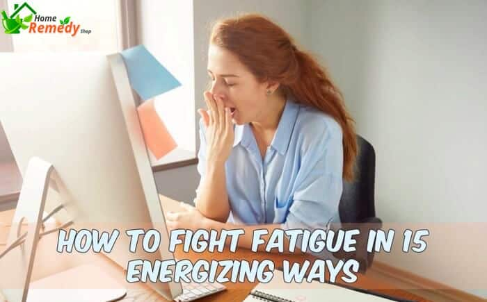 tired woman yawning fatigue symptom with caption how to fight fatigue