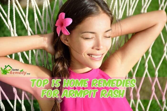 woman relaxing hammock caption home remedies for armpit rash