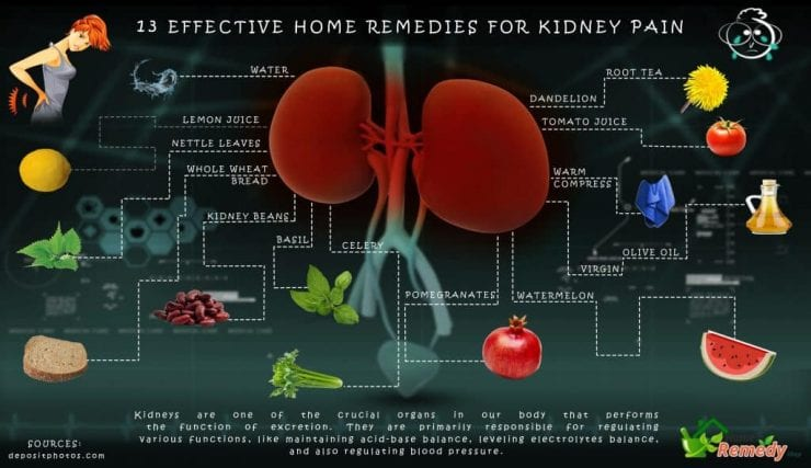 13 Home Remedies for kidney pain