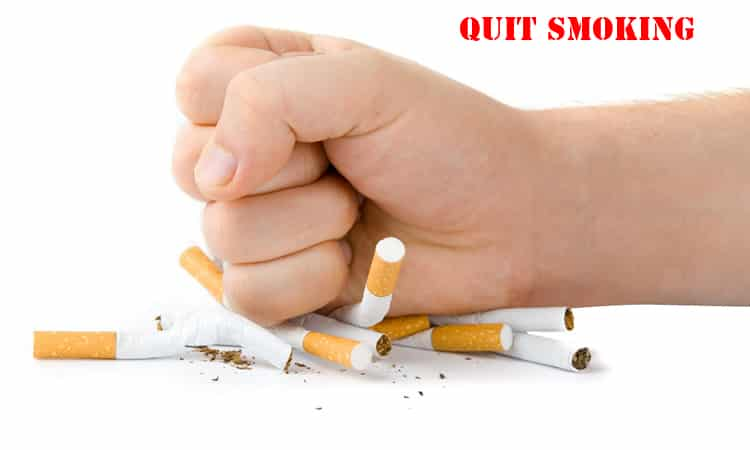 Quit smoking as soon as possible!