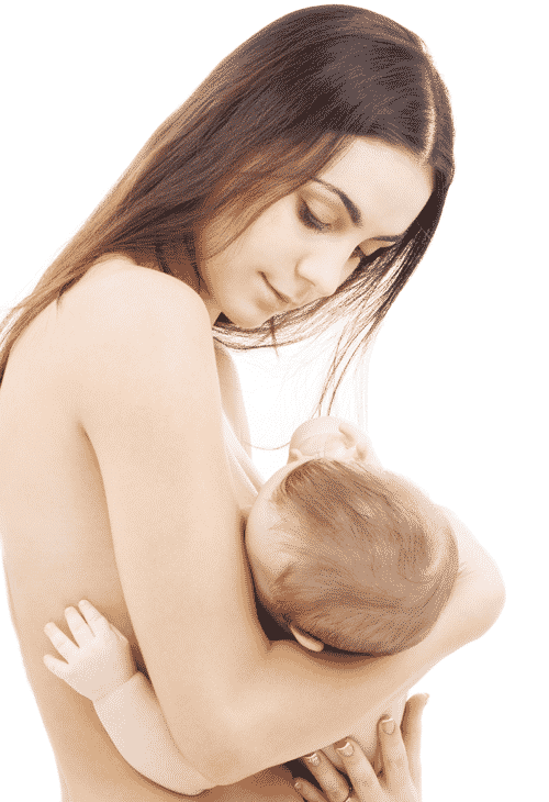 Young woman nursing her baby