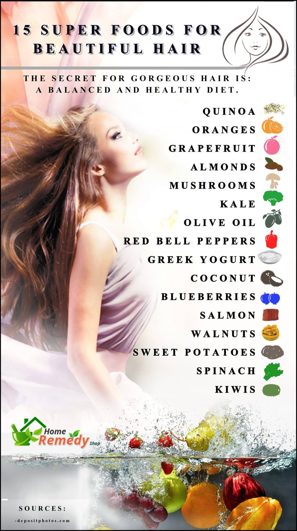 15 Super Foods For Beautiful Hair