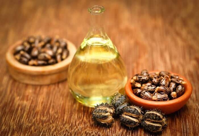 castor oil on a table