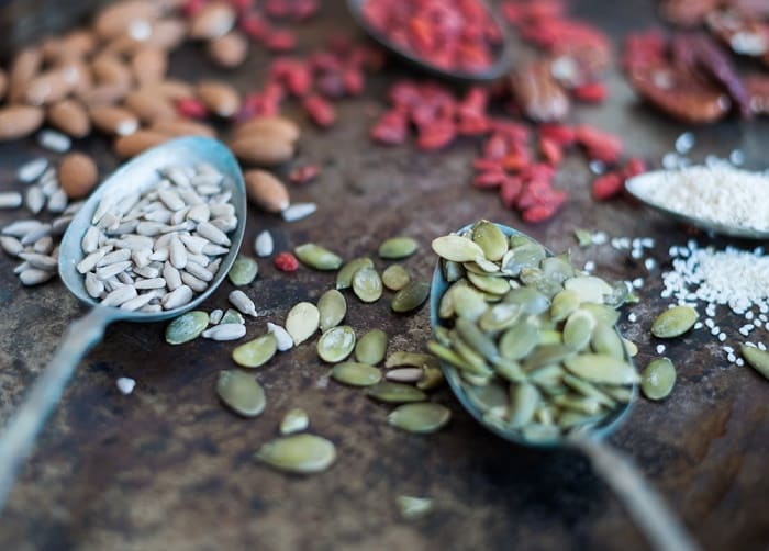 seeds and almonds