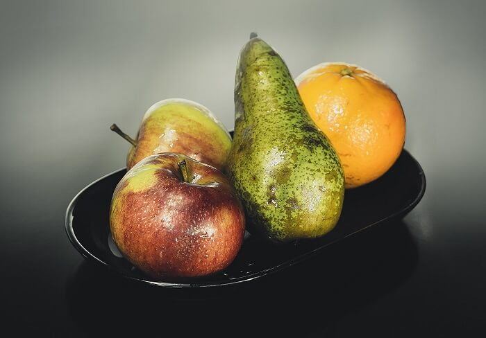 whole fruits in a bowl
