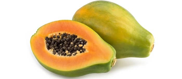 Papaya halves