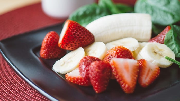 bananas and strawbberries