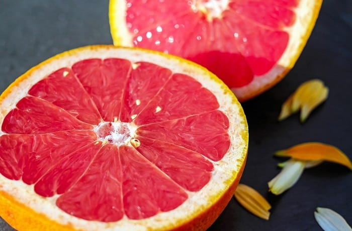 grapefruit with seeds