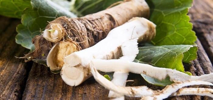 horseradish on table