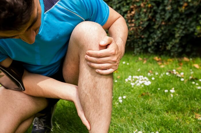 man with muscle injury