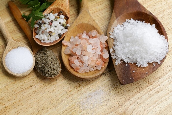 several different types of salt
