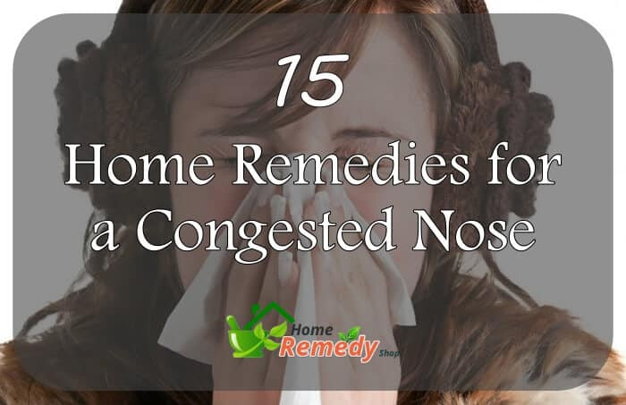 home remedies for congested nose