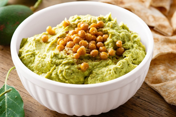 hummus health benefits go up when mixed with avocado paste