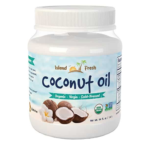 Best organic coconut oil - Island Fresh - product photo.