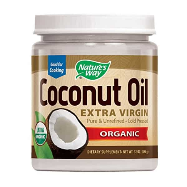 Best organic coconut oil - Nature's Way extra virgin organic product photo.
