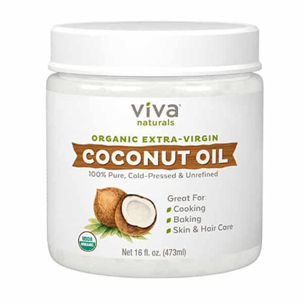 Best organic coconut oil - Viva Naturals Organic Extra-Virgin product photo.