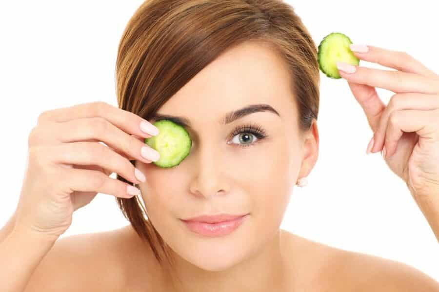 Cucumber Face Mask black circles under the eyes