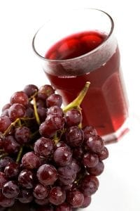 red grapes and grape juice