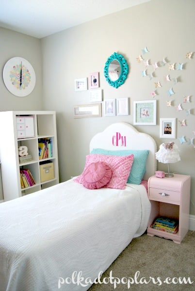 diy fabric monogram headboard