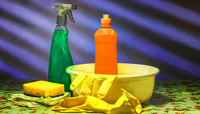 spray and dishwashing