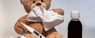 teddy bear holding solutions on how to break a fever