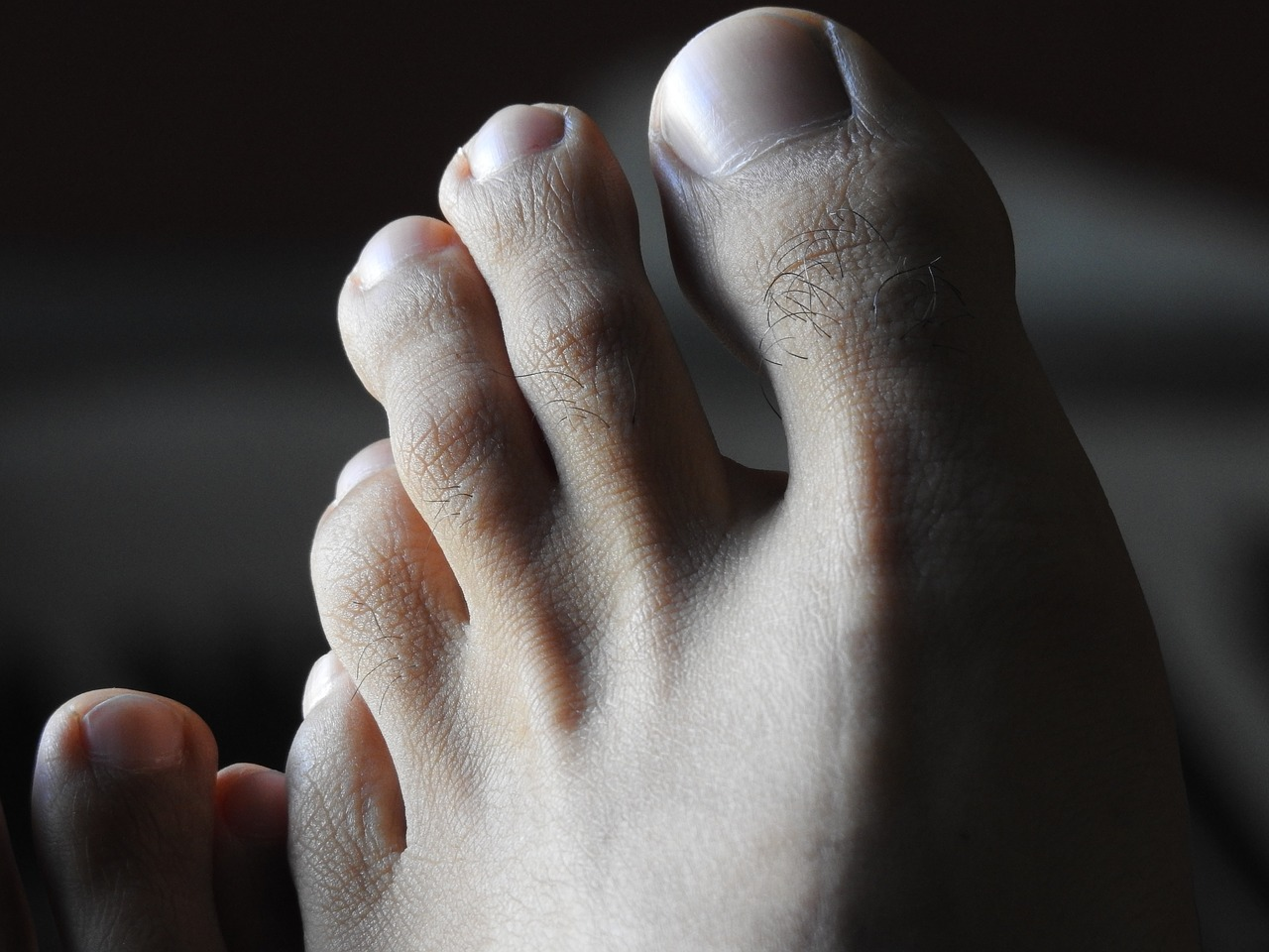 well-groomed feet without ingrown fingernail