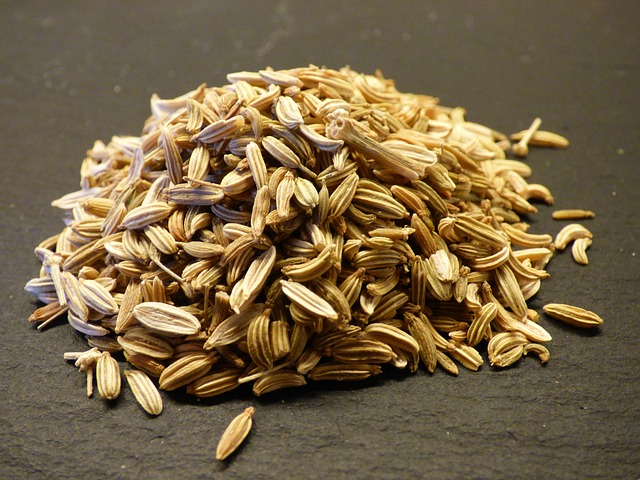 a few grams of fennel seeds