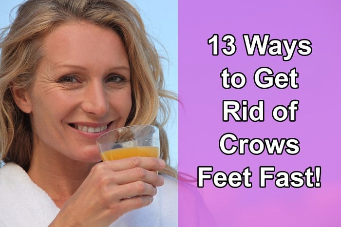 get rid of crows feet fast